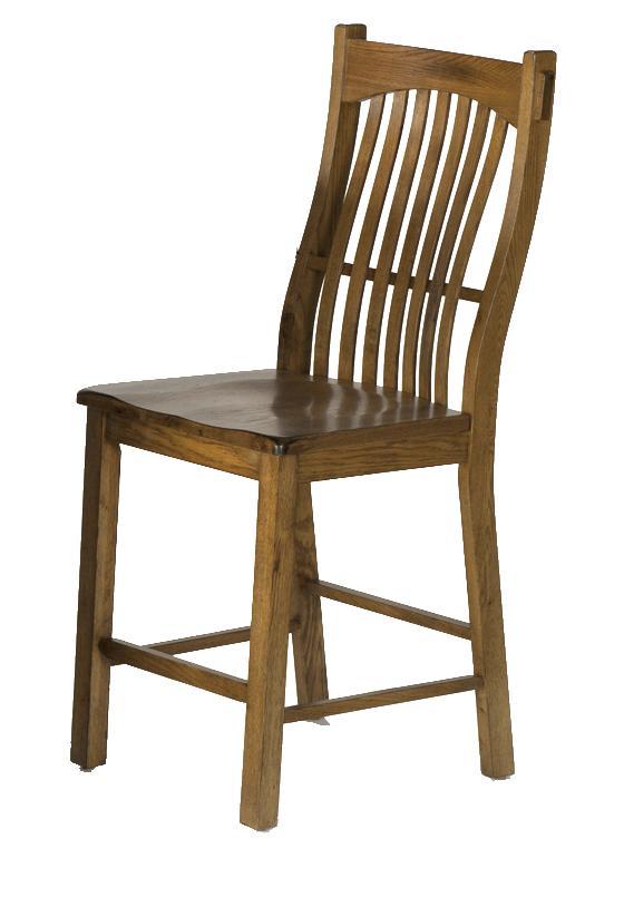 Laurelhurst Slatback Barstool by A-A at Walker's Furniture