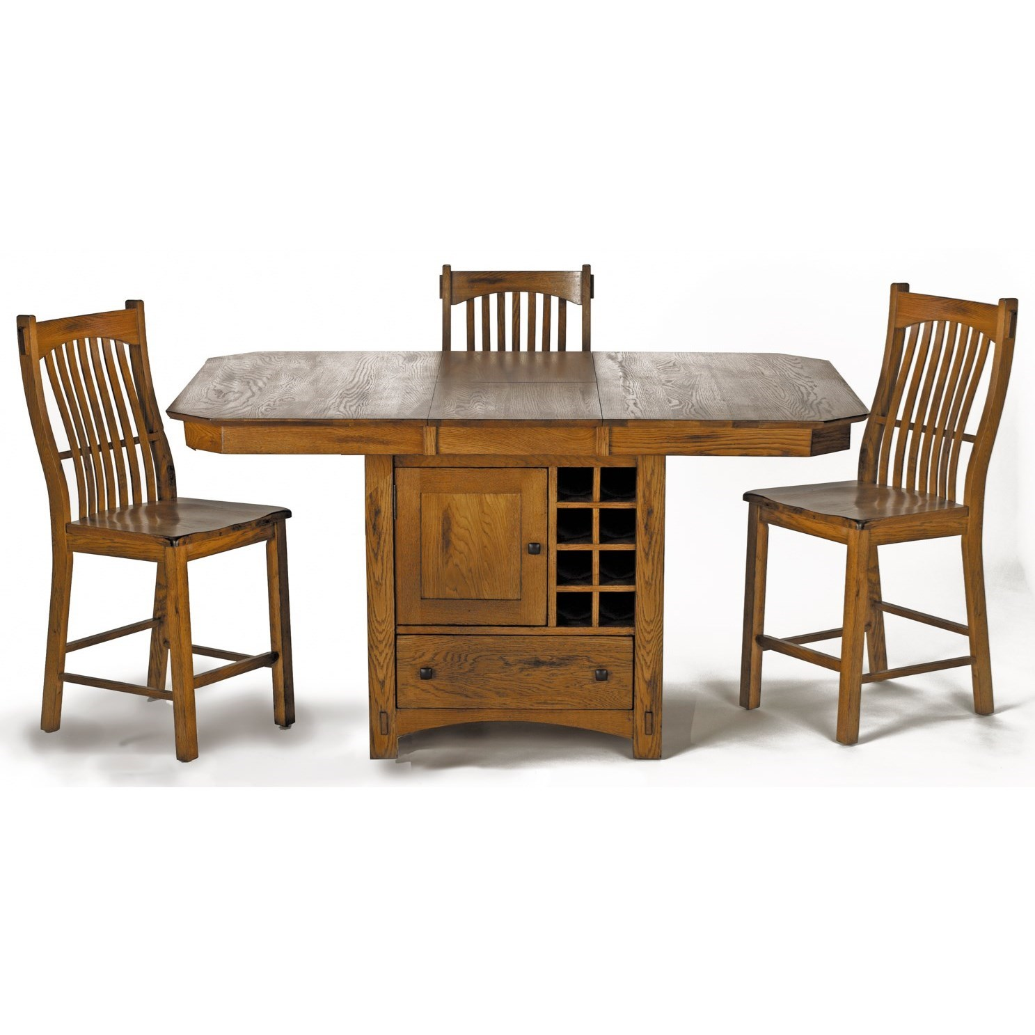 Laurelhurst 5-Piece Counter Height Table Set  by A-A at Walker's Furniture