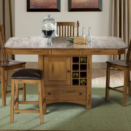 Laurelhurst Wine Storage Gather Height Table by A-A at Walker's Furniture