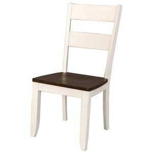 Two Tone Ladder Back Side Chair
