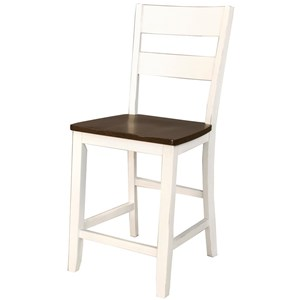 Two Tone Ladderback Counterheight Stool