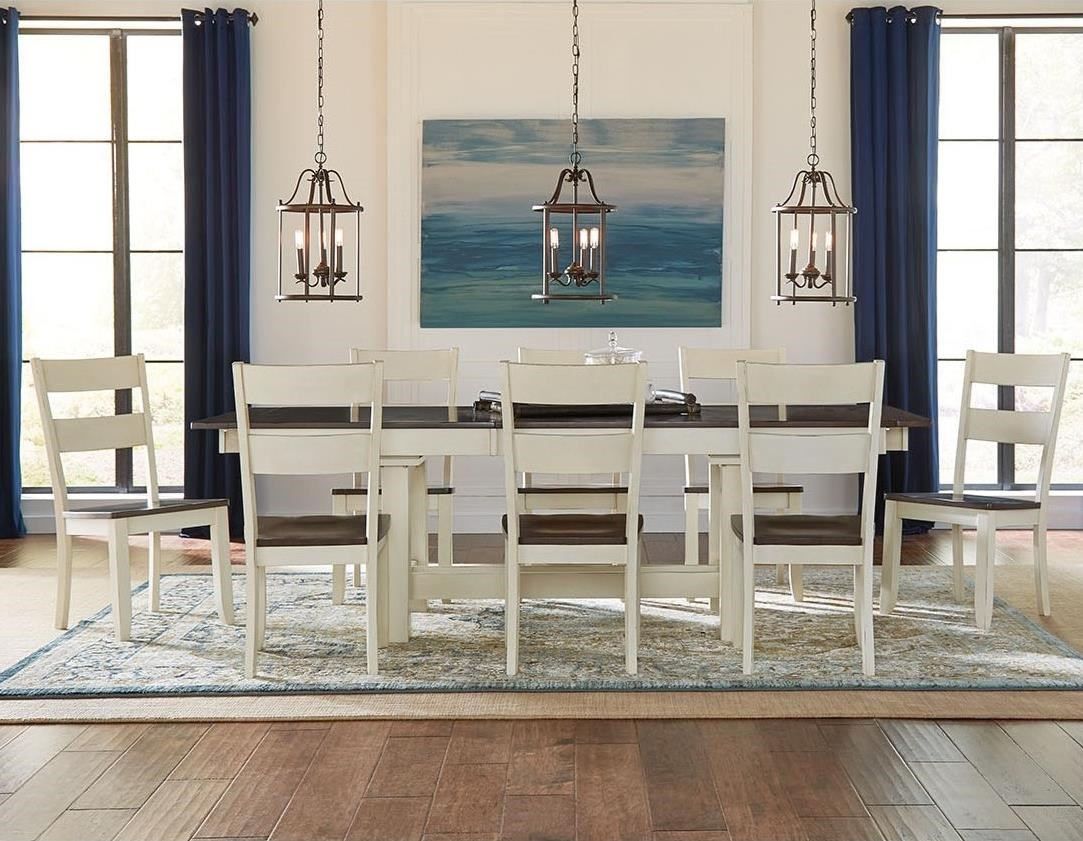 Mariposa 9 Piece Dining Set by AAmerica at Van Hill Furniture