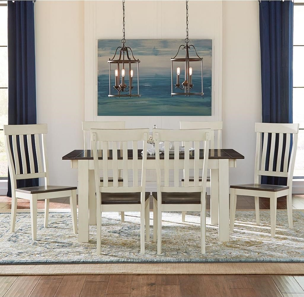 Mariposa 7 Piece Dining Set by A-A at Walker's Furniture