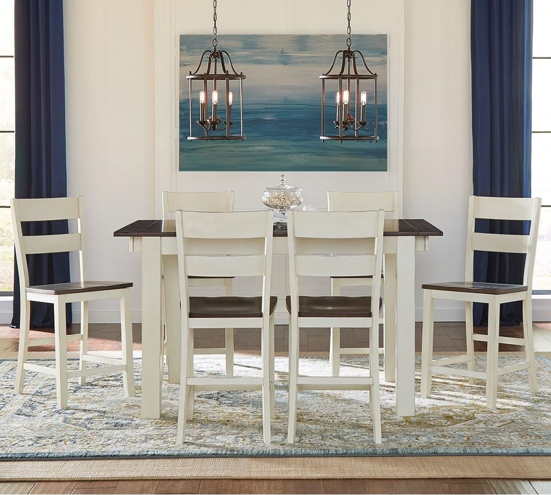 Mariposa 7 Piece Counter Height Dining Set by AAmerica at Mueller Furniture