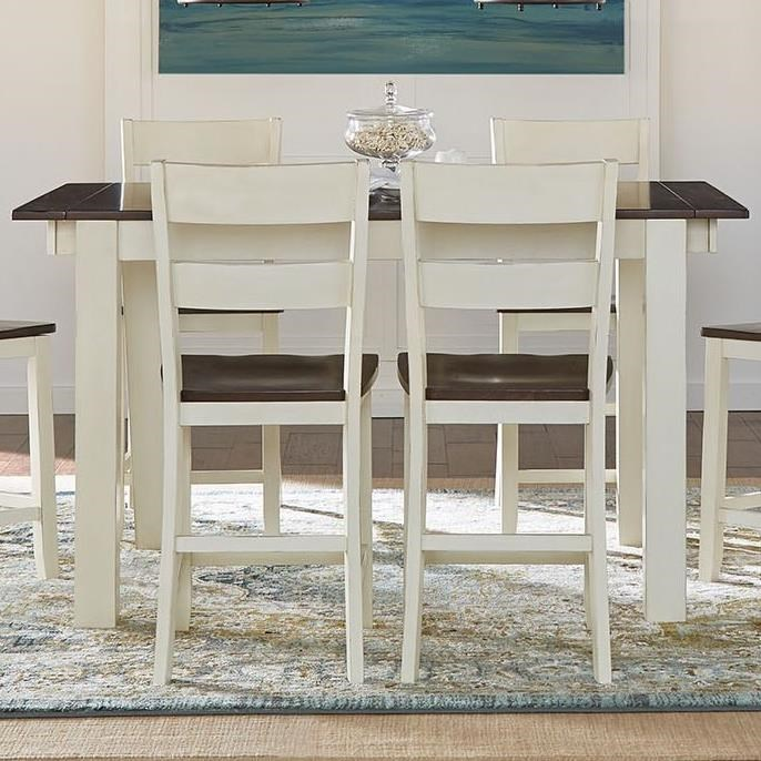 Mariposa Gathering Leg Table by A-A at Walker's Furniture