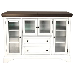 Flip Top Server with Glass Doors