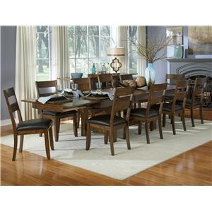 11 Piece Trestle Table and Ladderback Chairs Set