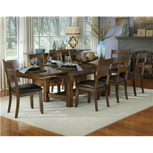 AAmerica Mariposa 9 Piece Table and Chairs Set