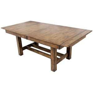 Trestle Table with 3 Butterfly Storage Leaves