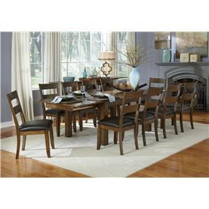 11 Piece Table and Ladderback Chairs Set