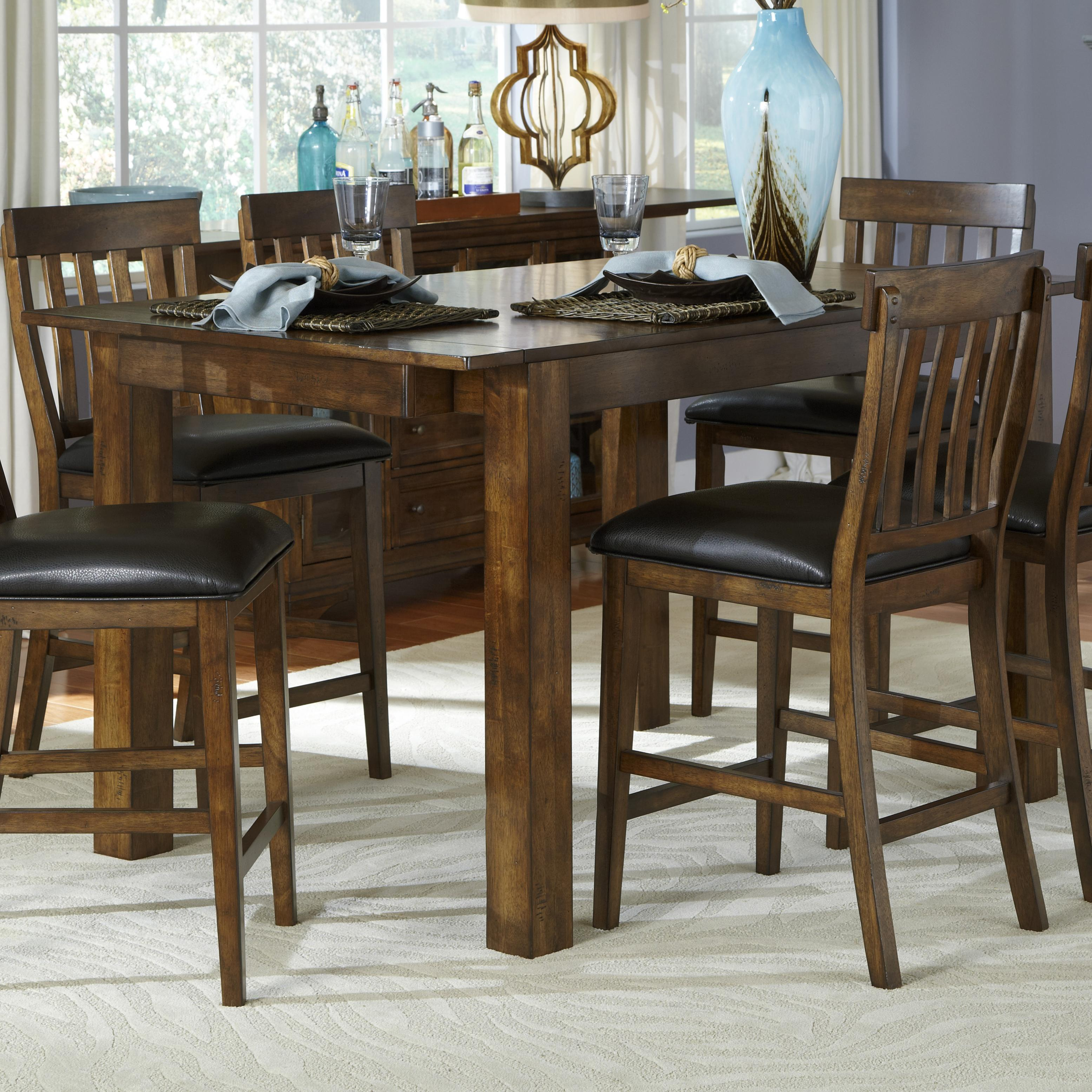 Mariposa Gathering Leg Table by AAmerica at Darvin Furniture