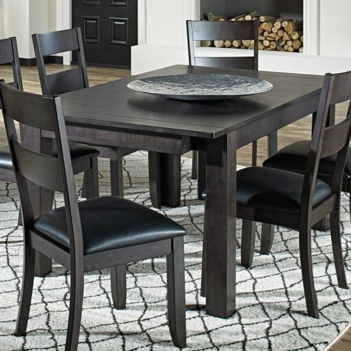 Mariposa Dining Leg Table by AAmerica at Novello Home Furnishings