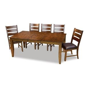 Rectangular Butterfly Table With 6 Chairs
