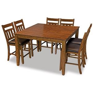 Square Butterfly Leaf Gathering Height Table With 4 Chairs