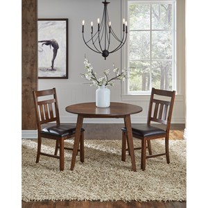 3 Piece Drop Leaf Table and Chair Dining Set