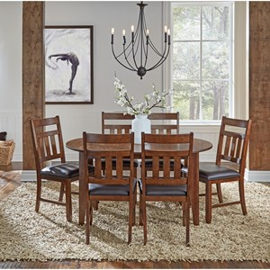 7 Piece Oval Table and Chair Dining Set