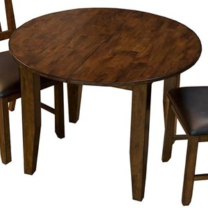 "Oval Leg Table with 18"" Leaf"