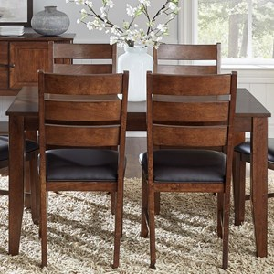 5 Piece Rectangular Butterfly Table and Chair Dining Set