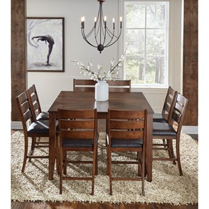 9 Piece Gathering Height Table and Chair Dining Set