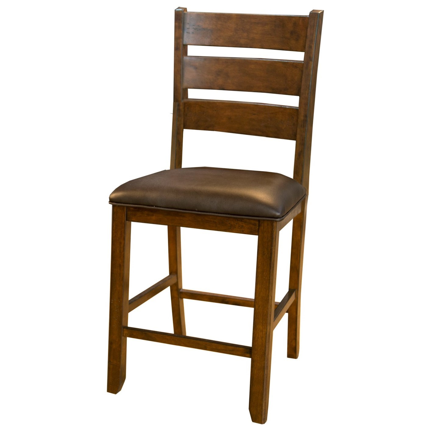 Mason Ladderback Gathering Height Stool by AAmerica at Novello Home Furnishings