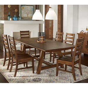 Transitional Solid Wood 7-Piece Dining Set