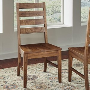 Transitional Solid Wood Ladderback Side Chair