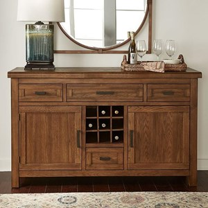 Transitional Solid Wood Sideboard with Metal Hardware