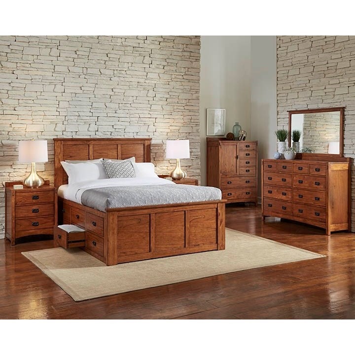 Mission Hill California King Bedroom Group by AAmerica at Suburban Furniture