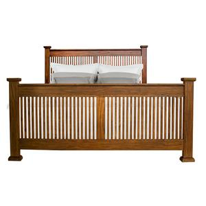 Queen Slat Bed with Posts