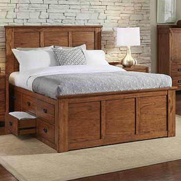 Mission Hill Queen Captain Bed by A-A at Walker's Furniture