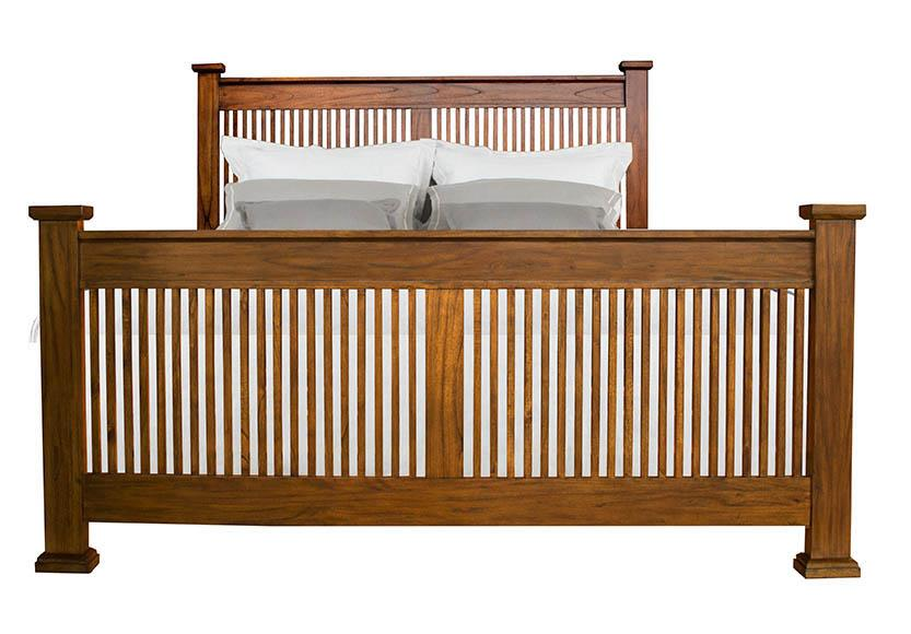 Mission Hill King Slat Bed by A-A at Walker's Furniture