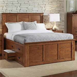 California King Captain's Bed with Storage Drawers