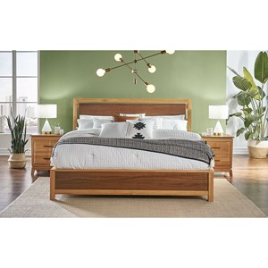 Transitional Queen Low Profile Bed
