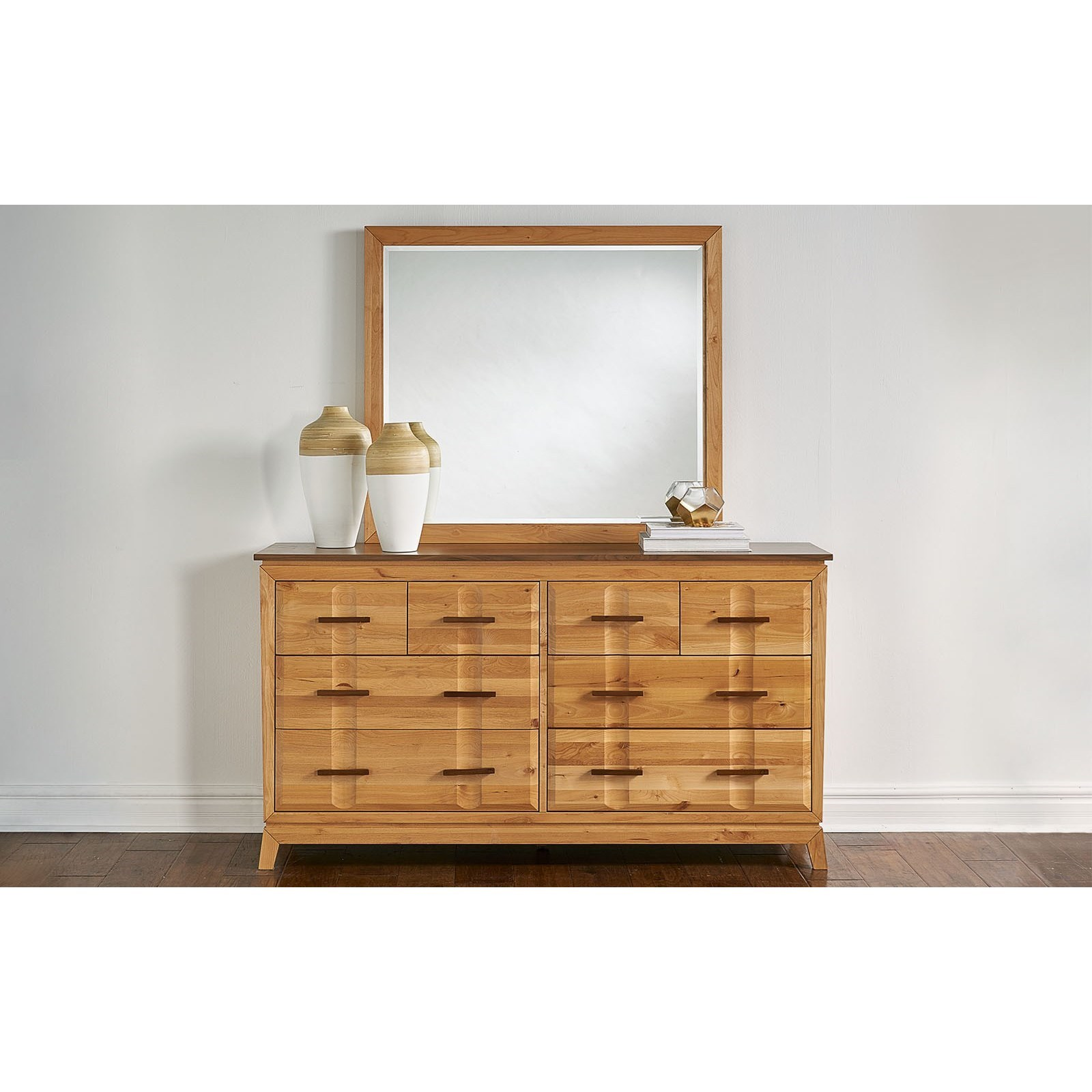 Modway 8-Drawer Dresser and Mirror Set by A-A at Walker's Furniture