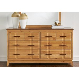 Transitional 8-Drawer Dresser