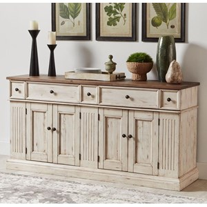 Cottage Style Solid Wood Sideboard