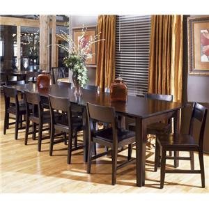 AAmerica Montreal Rectangular Accordion Extension Table