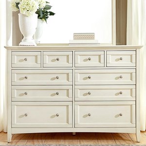 Cottage Style Master Dresser with Metal Hardware