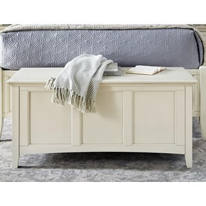 Cottage Style Solid Wood Cedar Lined Blanket Trunk