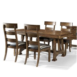 AAmerica Ozark 5 Piece Trestle Table and Chair Set