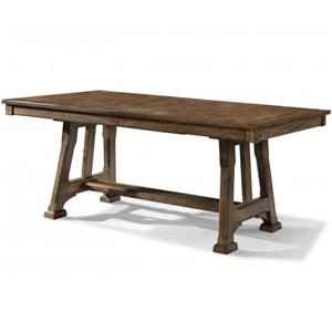 Trestle Table with Plank Styling