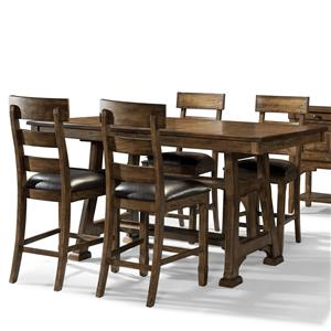 AAmerica Ozark 5 Piece Trestle Pub Table and Stool Set