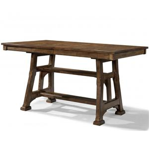 Gathering Height Trestle Table with Shelf