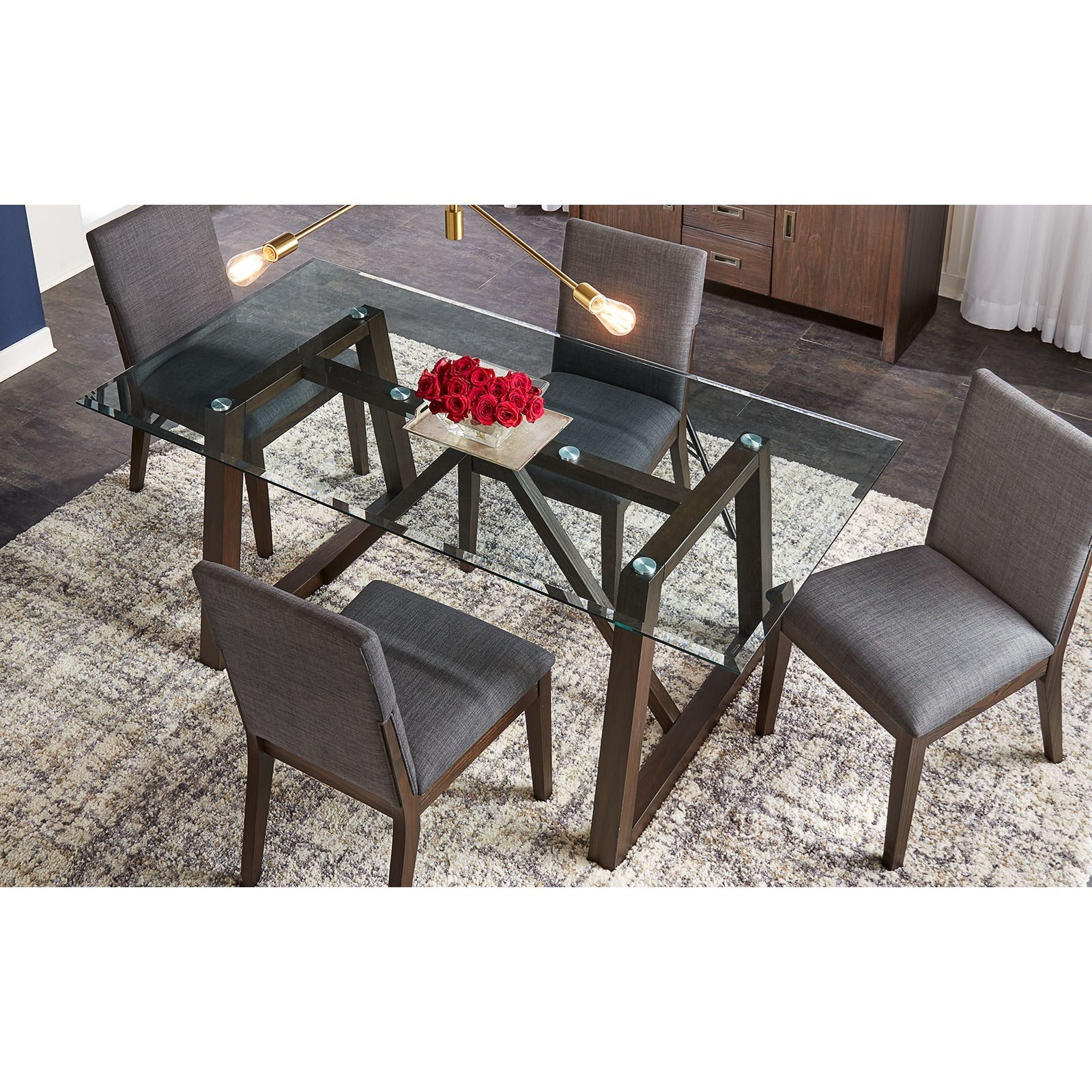 Palm Canyon 5-Piece Table Set by AAmerica at Mueller Furniture