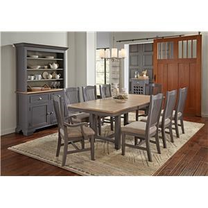Trestle Table with 4 Chairs
