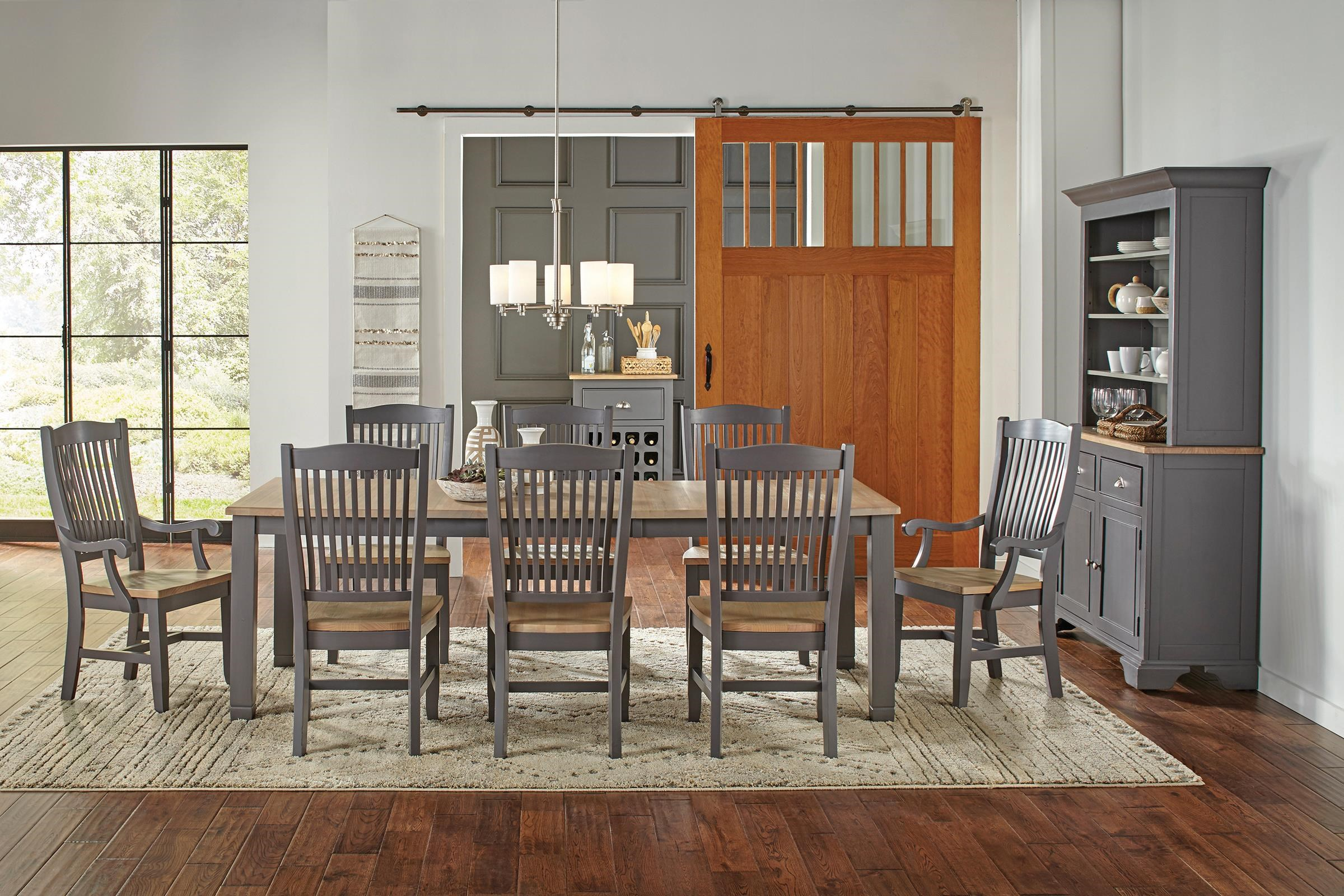 Port Townsend 5 Piece Table Set - Table, 4 Side Chairs by AAmerica at Johnny Janosik