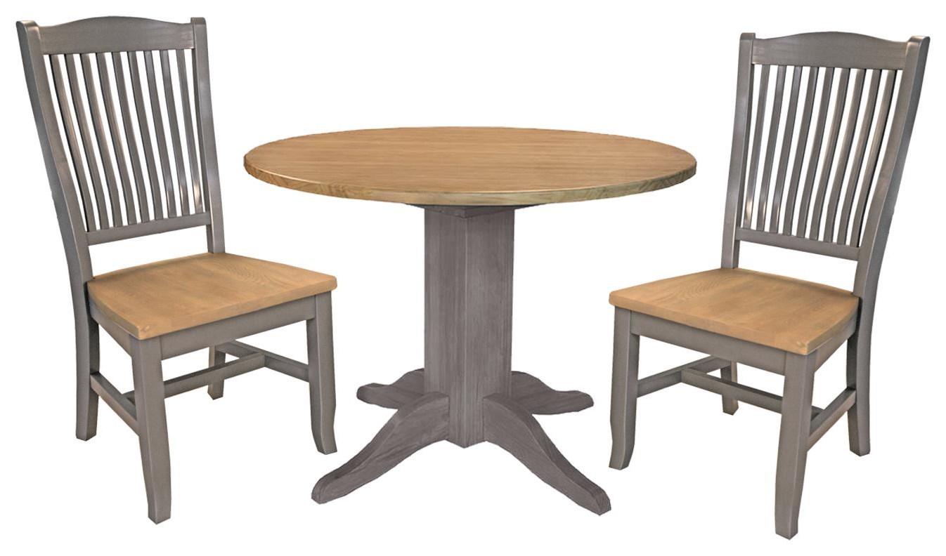 Port Townsend 42 Inch Round Table and 2 Chairs by AAmerica at Johnny Janosik