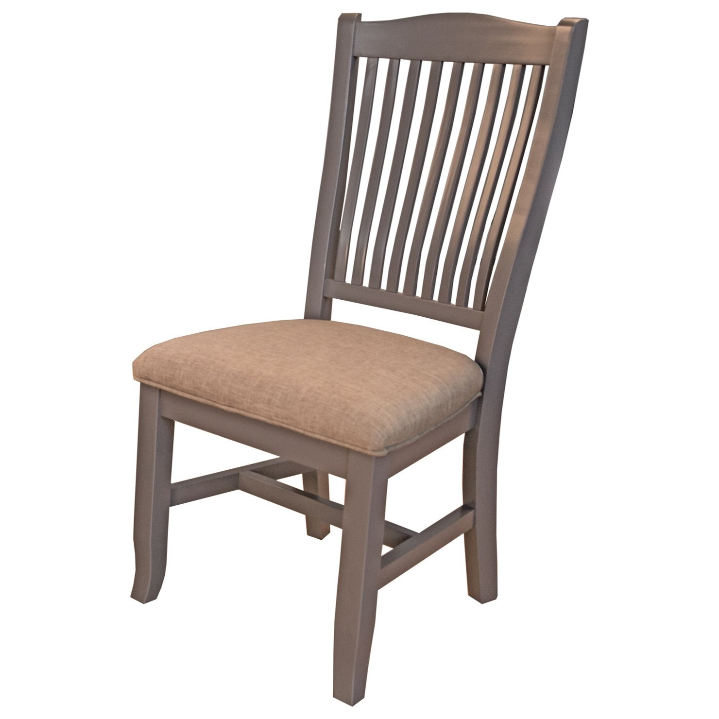 Port Townsend Slatback Side Chair with Upholstered Seat by AAmerica at Johnny Janosik