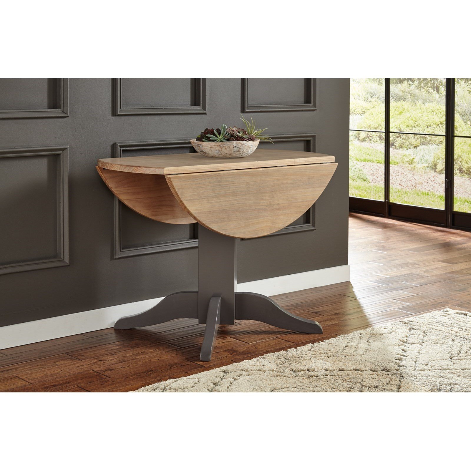 """Port Townsend 42"""" Drop Leaf Table by A-A at Walker's Furniture"""