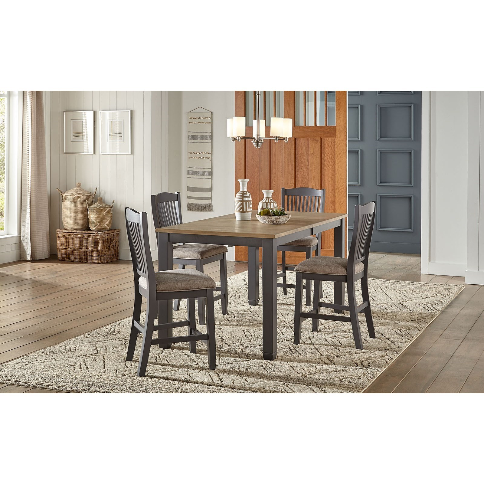Port Townsend 5-Piece Gathering Height Table and Chair Set by AAmerica at Dinette Depot